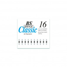 B/S - Пластина с  магнитной полоской (шириной 4 мм) размер 16