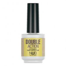 Nub  комбинированная основа-закрепитель для лака 2в1. Double action 15 ml