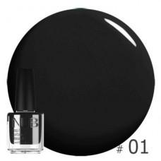 Nub декоративный лак, black 01, 14 ml
