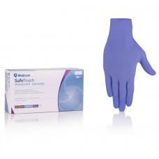 Перчатки смотровые нитриловые текстурированные без пудры нестерильные (размер XL) (50 пар) фиолетовый
