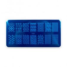 Nub stamping plate с22